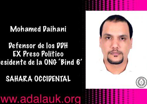 Adala UK pide investigar el ataque al defensor de derechos Mohamed Daihani.